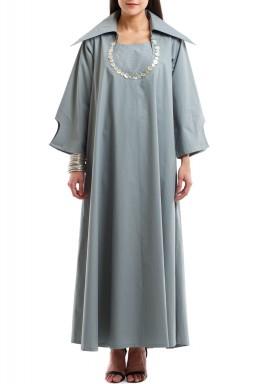 قفطان فستان بأزرار دبل إيفكت