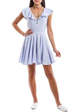 فستان صيفي مخطط أزرق
