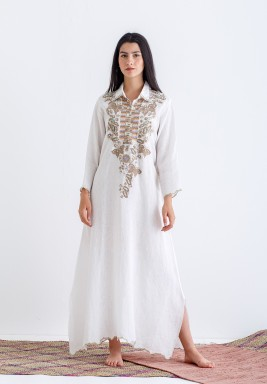 Long dress with detailed embroidery