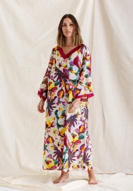 Printed Kaftan Dress / Flora