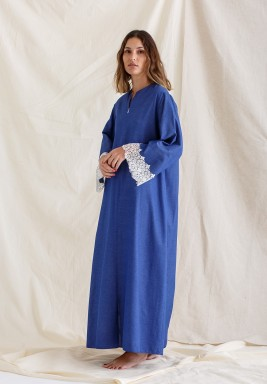 Poplin Dress Blue - Navy
