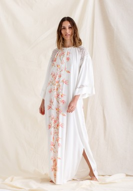 Printed and Trimmed Rayon Dress