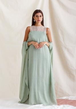 Tiffany Glitter Sleeve Kaftan