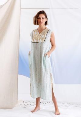 فستان تيفاني مزخرف متوسط الطول