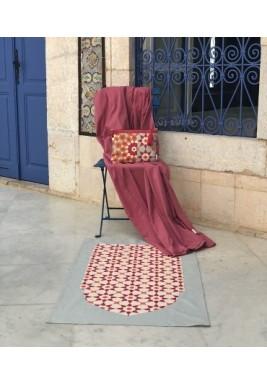 طقم صلاة مغربي وردي للسفر