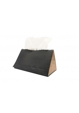 صندوق محارم ورقية أسود مثلث