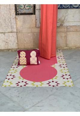 طقم صلاة مغربي - وردي