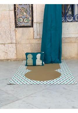 طقم صلاة مغربي - ازرق