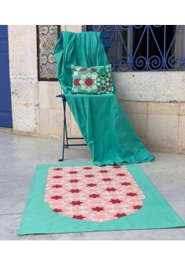 طقم صلاة مغربي أخضر للسفر